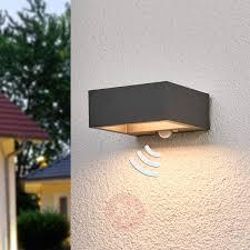 modern outdoor sensor wall lights. solar-powered led outdoor wall light mahra, sensor-9619074-31 modern sensor lights