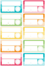 Blank Schedule Blank Schedule Cards 10pc Magnetic