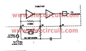 simple digital voltmeter circuit using icl figure 3 the clock signal generator circuit