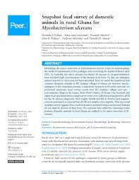 PDF) Snapshot fecal survey of domestic animals in rural Ghana for ...