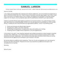 Paralegal Legal Cover Letter Template Cover Letter