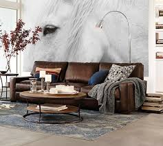 wall color for brown furniture. Turner Square Arm Leather Sofa Wall Color For Brown Furniture