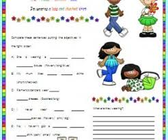 Clothes and Order of Adjectives Worksheet