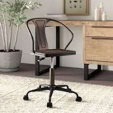 Feminine office chair Tufted Aledo Industrial Office Chair Wayfair Feminine Desk Chair Wayfair