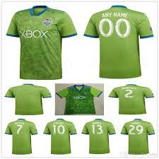 Best Football Jersey Design 2018 2018 2019 Seattle Sounders Soccer Jersey 2 Dempsey 13 Morris 10 Lodeiro 29 Torres 7 Roldan 18 19 Home Green Custom Football Shirt