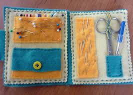 and a felt travel sewing kit