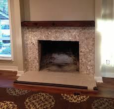 popular uses pebble tile fireplaces mantles pebble tile