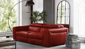colour your living room with a red sofa