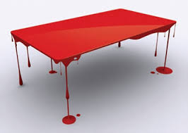 Danish designer Essey invented a table called Grand Illusion, looks like a  tablecloth, suspended in the air. Table completely made of acrylic, strong  enough ...
