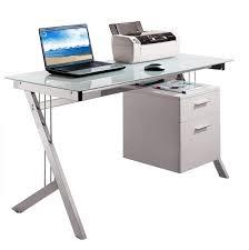 captivating small glass top computer desk rolling computer desk for glass top computer desk decorating