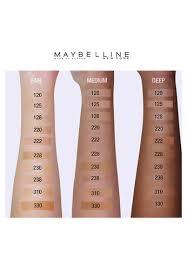Maybelline Fit Me Colour Chart Fit Me Matte Poreless Liquid Foundation 310 Sun Beige