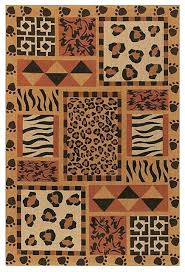 safari rugs rug black red orange tan contemporary area by animal print for nursery uk bathroom