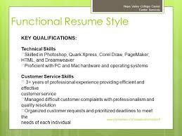 preparing an effective resume napa valley college career center 23 functional