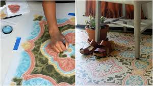 how to stencil a concrete floor in 10 easy steps with annie sloan chalk paint you
