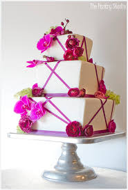 A Custom Designed Modern Contemporary Wedding Cake By The Pastry