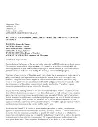 Writing An Appeal Letter Insurance Appeal Letter Template From Provider Out Of