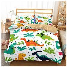 kid dinosaur bed set dinosaur duvet cover set 3d bedding queen size bed cover quilt pillowcase jurassic linen 6 luxury duvet covers girl bedding from