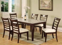 White Marble Top Dining Table Stone India 5piece Faux Pub Set