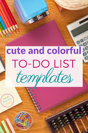 Cute Contact List Template Free To Do List Templates So Cute And Colorful What