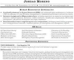Hr Sample Resume Human Resource Resume Sample Human Resources