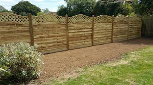 installation of euro panel fencing in wooden posts with wooden gravel boards