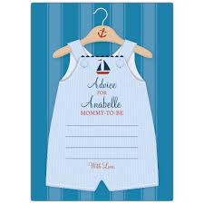 Card For Baby Boy Baby Boy Overalls Shower Advice Cards