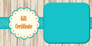 Online Gift Certificate Template Template Fillable Gift Certificate Template 2