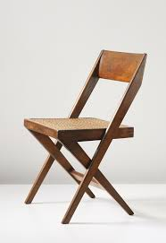 phillips pierre jeanneret library chair model no designed for the high court and punjab university chandigarh
