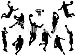 バスケットボールシルエットイラスト No 1461773無料イラストなら