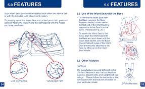 features babytrend cc13700 ez flex loc infant car seat pomegranate user manual page 13 27