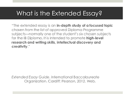 The Extended Essay  What is the Extended Essay  It is an  in     Google Sites Extended essay criteria english a UBC Department of English The University  of British Columbia How can