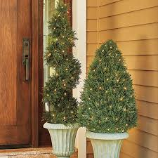 Pre Lit Potted Heart Topiary TreeArtificial Topiary Trees With Solar Lights