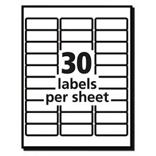 Avery Label 8160 Avery 8160 Easy Peel Mailing Address Labels Inkjet 1 X 2 5 8
