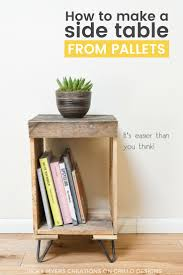 wood pallet furniture diy. DIY Pallet Side Table - Easy Instructions On How To Create A Rustic Wooden Wood Furniture Diy D