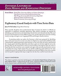 Causal Analysis Exploratory Causal Analysis With Time Series Data By James M