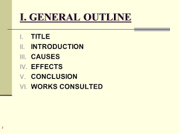 causes and effects part the essay ppt video online i general outline title introduction causes effects conclusion