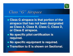 Class G Airspace Sectional Chart Airspace Classification