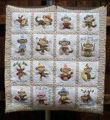 44 best Monkey quilts images on Pinterest | Applique templates ... & Jumping Monkey quilt - not sock monkey, but. Adamdwight.com