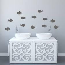 Wall Sticker Bathroom Fish Bathroom Wall Stickers By Mirrorin Notonthehighstreetcom