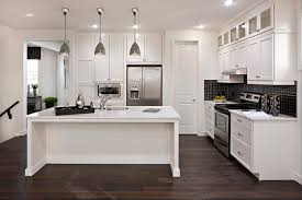 modern white kitchens with dark wood floors. Unique Modern Contemporary Style Kitchen With Dark Chocolate Colored Wood Flooring  To Modern White Kitchens With Dark Wood Floors E