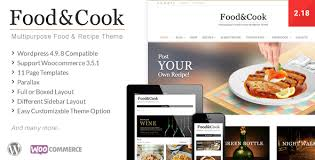 Recipe Page Layout Food Cook Multipurpose Food Recipe Wp Theme By Dahz Themeforest
