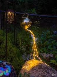 One Landscape Light Not Working Diy Spilling Solar String Lights Crafts Disney Garden
