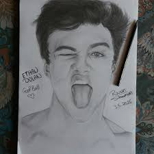 ethan dolan drawing dolan twins beauty graphite drawing follow my