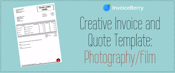 Free Quotation Templates Creative Invoice And Quote Template Photography Film 24