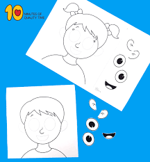 It is generally safe to begin using scissors and glue with this can be done with these worksheets below our you could also create your own. Parts Of The Face Cut And Paste Worksheet 10 Minutes Of Quality Time