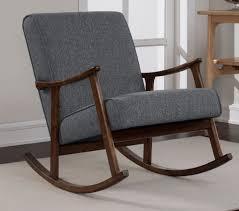 Modern Rocking Chair Modern Rocking Chair Wooden Retro Vintage Mid Century Rocker Grey