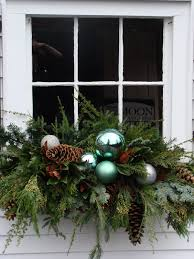 Christmas Window Box Decorations Christmas Greenery Window Box with a boost from something shiny 86