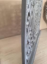 Paravent Fensterparavent Sichtschutz Holz 69x35 Cm Grau Design