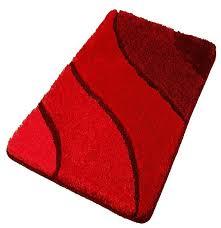 plush washable red bathroom rugs extra large