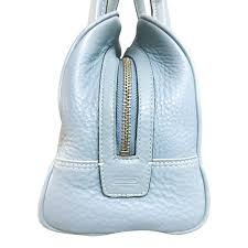 coach baby blue leather satchel bag